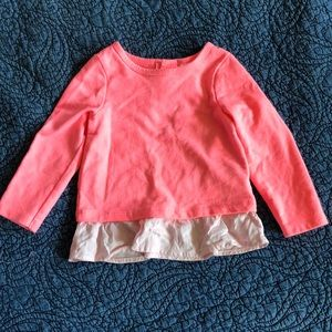 Long Sleeve Top with Ruffle Bottom, 18 month